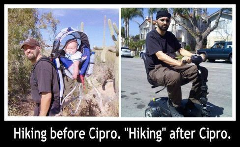 Hiking before Cipro, hiking after Cipro