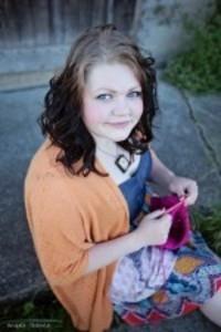 Alisa Duckworth knitting for victory against Gardasil